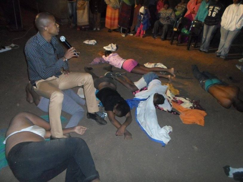 South Africa Pastor Asks Congregation To Remove Clothes And Steps On Them To Receive -2733