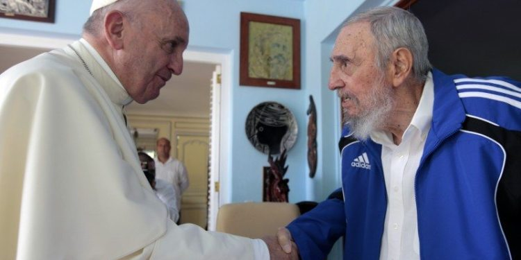 Pope and late Cuba leader Castro